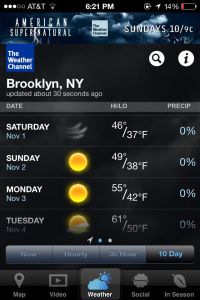 I could live with this forecast!